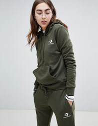 Converse Star Chevron Embroidered Pull Over Hoodie Green