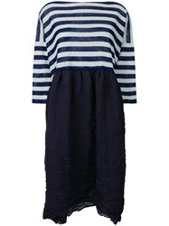 Daniela Gregis Striped Sweater Dress Blue