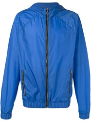 Msgm Zipped Lightweight Jacket Blue
