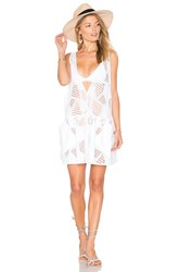 Milly Cotton Eyelet Deep V Cover Up White