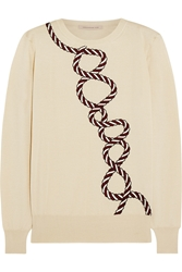 Christopher Kane Embroidered Cashmere And Silk Blend Sweater