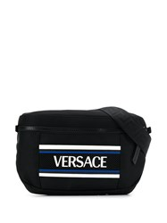 Versace Contrast Logo Belt Bag Black