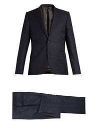 Paul Smith Soho Fit Pin Dot Wool Suit Navy Multi