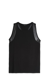Kage Leather Tank Top Black