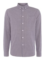 Linea Ariel Micro Check Long Sleeved Shirt Purple