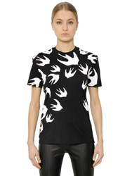 Mcq By Alexander Mcqueen Sparrow Printed Cotton Jersey T Shirt