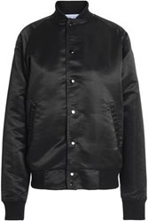Oak Satin Bomber Jacket Black