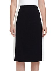 Lafayette 148 New York Crepe Tuxedo Stripe Pencil Skirt