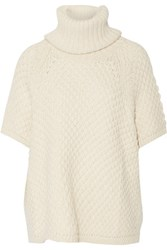 Alice Olivia Ivan Oversized Alpaca Turtleneck Sweater Ecru