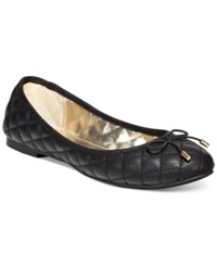 Material Girl Fifi Quilted Flats Women's Shoes Black