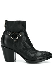 Rocco P. Floral Embroidery Ankle Boots 60