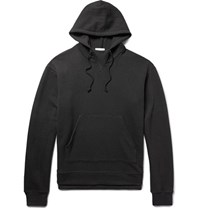 John Elliott Kake Loopback Cotton Jersey Hoodie Black