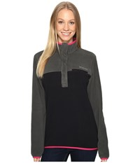 Columbia Mountain Side Pullover Grill Black Women's Long Sleeve Pullover Gray