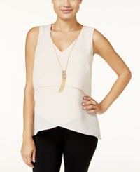 Thalia Sodi Layered Necklace Tank Top Only At Macy's Shell Tan