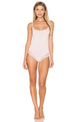 Only Hearts Club So Fine With Lace Low Back Bodysuit Blush