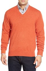 Men's Peter Millar High Twist Cashmere V Neck Sweater