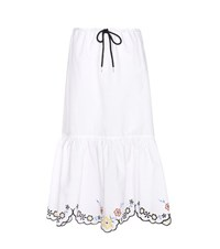 See By Chloe Embroidered Cotton Skirt White