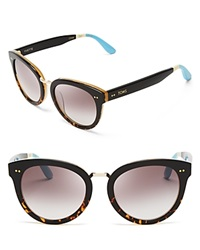 Toms Yvette Sunglasses Black Tortoise Gray Gradient