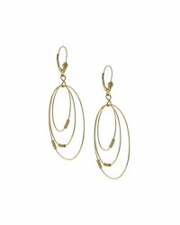 Lagos 18K Gold Caviar Ball 3 Hoop Earrings