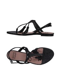 Gianna Meliani Toe Strap Sandals Black