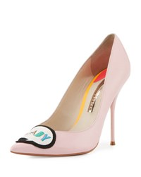 Sophia Webster Boss Lady Leather 100Mm Pump Baby Pink