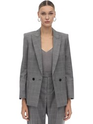Zadig And Voltaire Double Breasted Wool Blend Jacket Grey