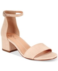 Xoxo Horatio Two Piece Block Heel Sandals Women's Shoes Nude
