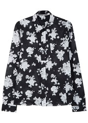 Mcq By Alexander Mcqueen Charcoal Floral Print Cotton Shirt Grey