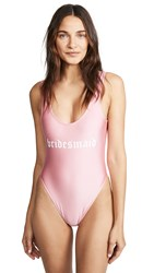 Private Party Bridesmaid One Piece Pink