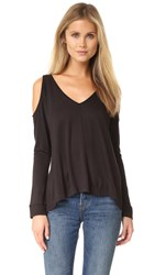 Bb Dakota Jack By Bartemus Cold Shoulder Top Black