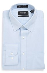 Nordstrom Men's Big And Tall Men's Shop Smartcare Tm Trim Fit Stripe Dress Shirt Blue