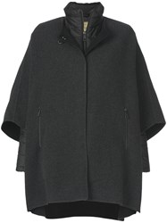 Fay Cape Coat Polyamide Polyester Wool S Black