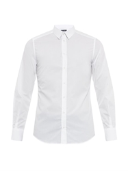 Dolce And Gabbana Gold Fit Double Placket Cotton Shirt