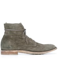 Officine Creative Lace Up Boots Grey