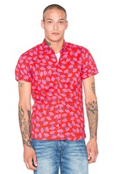 Scotch And Soda Bold All Over Print Shortsleeve Shirt Red