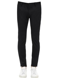 Dsquared 16Cm Skinny Dan Cotton Twill Chinos Black