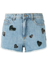 Chiara Ferragni Denim Shorts Blue
