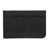 Mcq By Alexander Mcqueen Black Metal Logo Card Holder