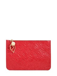 See By Chloe Kiss Embossed Laminated Leather Pouch