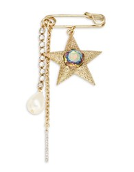 Gerard Yosca Star And Faux Pearl Closure No Color