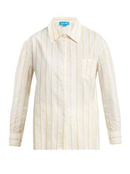 M.I.H Jeans Dylan Pinstriped Cotton Shirt Yellow Stripe