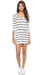 Chaser Striped Drape Back Dress