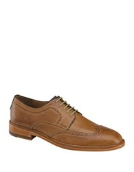 Johnston And Murphy Campbell Leather Wingtip Oxfords Tan