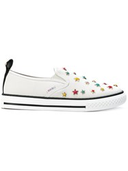 Red Valentino Star Studded Sneakers Women Cotton Leather Rubber 39 White