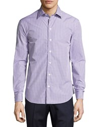 Armani Collezioni Box Check Cotton Sport Shirt Multi