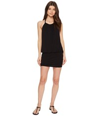 Laundry By Shelli Segal Blouson Cover Up Dress Black Women's Swimwear
