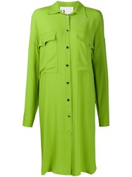 8Pm Oversized Shirt Dress Green