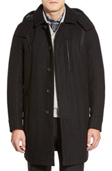 Men's Marc New York By Andrew Marc 'Boulevard' Wool Blend Coat With Removable Hood