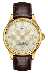 Tissot Le Locle Leather Strap Watch 39Mm