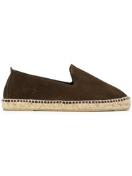 Manebi Logo Embossed Espadrilles Brown